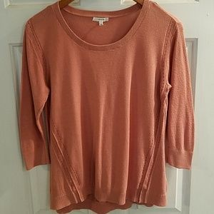 Maurices Dusty Rose 3/4 Sleeve Sweater
